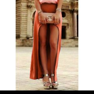 Dresses & Skirts - Orange Assymetrical Skirt